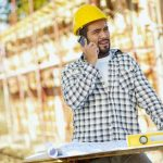 worker talking on mobile